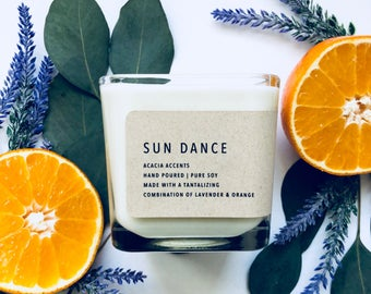 Sun Dance   Summer Collection   Pure Soy Candle   12oz Candle   Essential Oil Candle