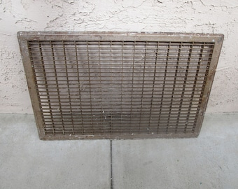 """Vintage Industrial Salvage Vent Cover 35"""" x 22.75""""! #CG"""