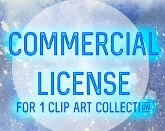 Commercial License for ONE Clip Art Collection - watercolor clip art, digital clipart, extended license