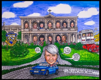 Custom caricature, retirement for man, retirement for woman, retirement for women, retirement for men, retirement for man, retirement boss