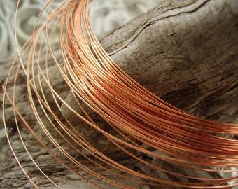 21 gauge half round copper