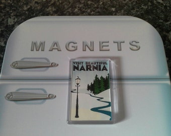 Narnia Travel Poster Fridge Magnet. Inspired by The Chronicles of Narnia