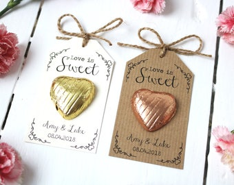 Love is Sweet - Chocolate Heart Wedding Favour