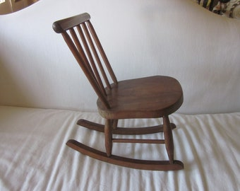 Antique 18th Century Windsor Childs Rocking Chair