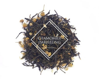 Chamomile Green Darjeeling Tea, Loose Leaf Tea, Green Tea