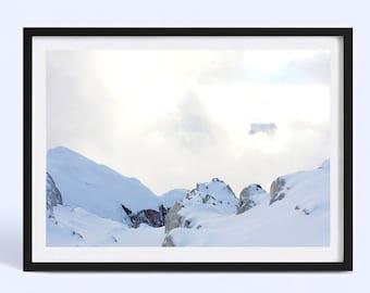 New Zealand Mountain Decor | New Zealand Snow Landscape | Nature Photography Print | Poster Print | Art Print