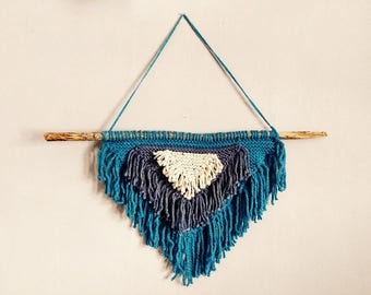 Hand-Knit Fringe Wall Hanging