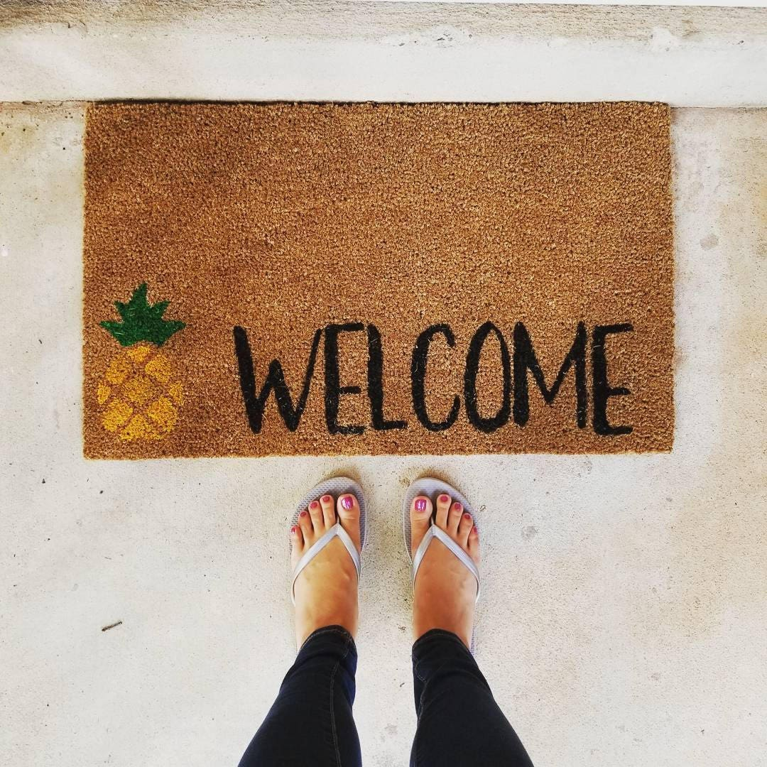 Pineapple Welcome Doormat Welcome Mat Door Mat Outdoor
