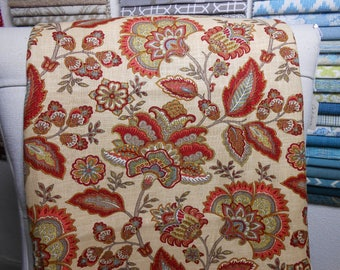 Multicolor Floral Remnant Fabric, 3.25 Yard Piece, Sewing, Bedding, Home Decor