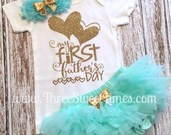 Baby First Father's Day Outfit | Baby Father's Day Shirt | My First Father's Day Outfit | Father's Day Gift | First Father's Day Outfit