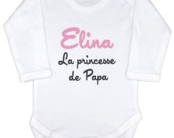 Personalized girl, Daddy's Princess Bodysuit