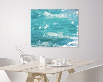 Abstract Seascape Photography Art Print | Abstract Ocean Art | Turquoise Ocean Waves | Abstract Coastal Home Decor Art | Large Abstract Art