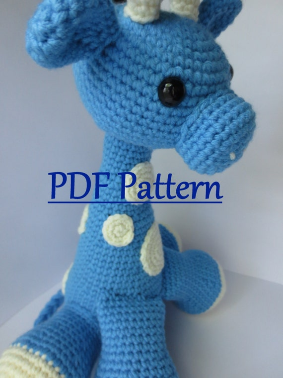 Artículos similares a CROCHET PATTERN Amigurumi Giraffe,Crochet ...