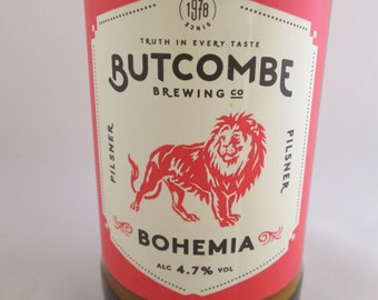 Beer Bottle Candle, Butcombe Beer Candle, Soy Wax Candle, Container Candle, Butcombe Bohemia, Bitter Candle, Recycled Bottle, Quirky candle