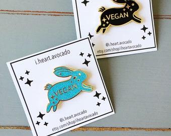 SECONDS SALE - Vegan Rabbit Hard Enamel Pin