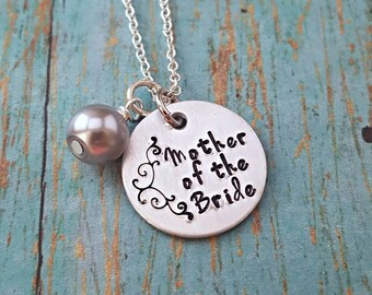 Mother of the Bride - Mother of the Bride Necklace - Wedding Jewelry - Mother of the Bride Gift - Wedding Party - Gift for Mother - Wedding