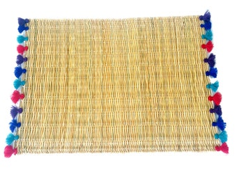 LOLA placemats with tassels - set of 2 JEWEL TONES