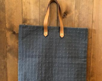 MINT Vintage HERMÈS Gray Ahmedabad Cotton Canvas Tote Bag Limited Edition