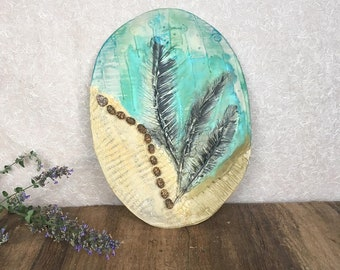 Earth Wind and Air Porcelain Wall Piece
