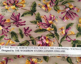 DESTASH Fabric - 1 yd 24 in of Wild Flowers designed by The Woodrow Studio - Quilting Cotton