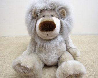 Plush LION - LION Plush - Stuffed Animal Lion Stuffed Lion Toy Casanova Large Plush Tan and Gray Lion with Soft Mane Happy Lion GUND