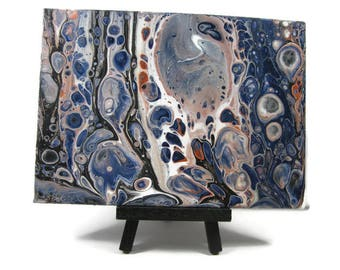 5 x 7 original Abstract Art acrylique versez panneau de toile d'Art plat de 5 x 7