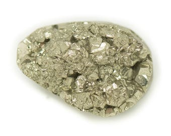 N11 - Cabochon stone - Pyrite raw 24x16mm - 8741140018419