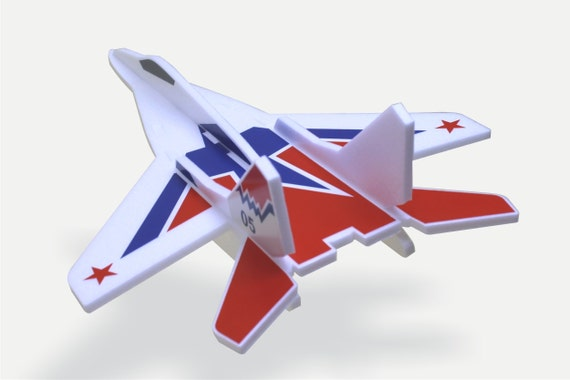 Toys for Boys Airplanes jet Model MiG 29 Air Jet Glider Aeroplane Aircraft kit Birthday party decorations DIY Puzzle Aircraft Gift for a boy
