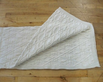 Aspen 100% Natural Cotton Throw Blanket