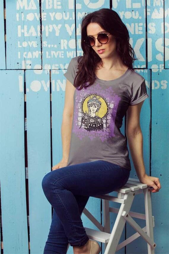 Medieval t-shirt - pretty t-shirt - Plus size tee- Medieval art - Watercolor painting - Cotton tops - Pretty boho - Pretty gypsy D0YXSO