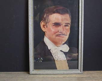 Vintage Rhette Butler Framed Print // Gone With The Wind // Paul Hesse Photo