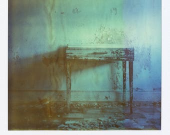 Polaroid Print - Decayed Desk