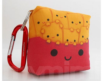 """Red and Yellow, Toy Food, Backpack Keychain, Toy Keychain, French Fries, 3.25 x 3.25"""""""