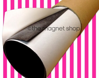 A2 Self Adhesive Flexible Magnetic Sheet Roll 0.85mm MOTORWAY GRADE Sticky Sign Making Cars Die Storage