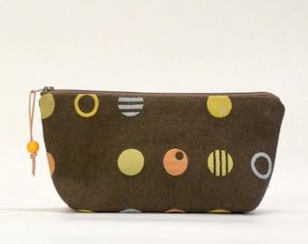 Dot Dot Dot Zipper Pouch Gadget Case Cosmetics Bag - READY TO SHIP