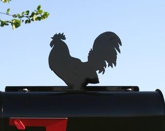 Rooster Mailbox Topper, Metal Chicken Mailbox Topper, Poultry Mailbox, Farmhouse Mailbox Topper, Farm sign, Chicken farm sign, Urban chicken