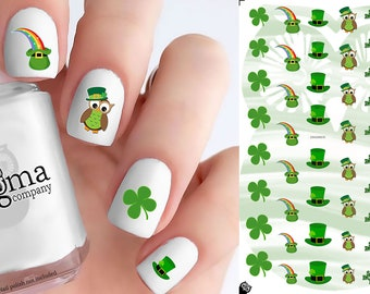 St Patrick's Day Nail Decals (Set of 48)