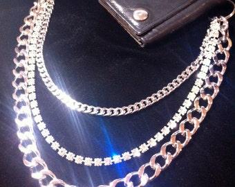 Ladies crystal wallet chain