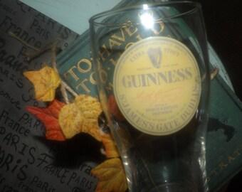 Vintage Guinness Extra Stout St. James Gate Dublin pint glass.  Blemished (see details below).