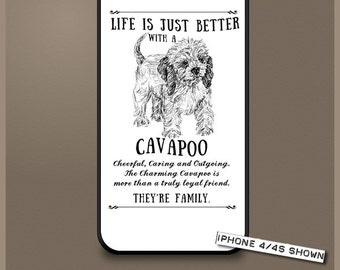Cavapoo dog phone case cover iPhone Samsung ~ Can be Personalised
