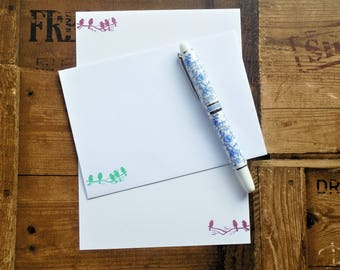 Bird Silhouettes Letter/Writing/Stationary Set