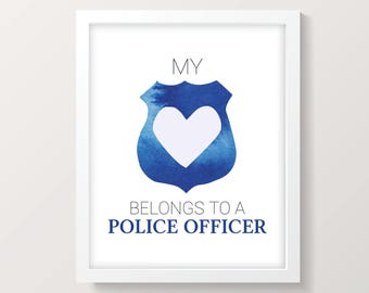 police officer gifts, police gifts, law enforcement gift, thin blue line, police girlfriend, police christmas, police officer wife