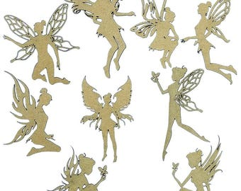 Fairies Set of 9 Laser Cut Chipboard FREE SHIPPING! in US