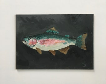 Original painting Rainbow Trout Study