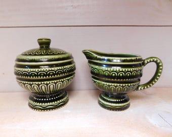 Vintage 1950's Royal Sealy China Sugar Bowl and Creamer Set