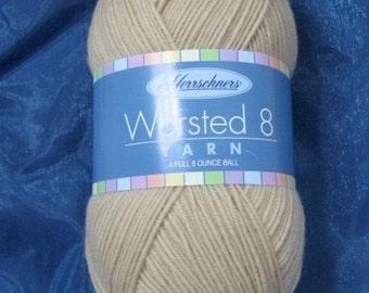 Yarn destash  – 6.75 ounces – tan yarn – Herrschner's 4 ply Worsted Acrylic Yarn