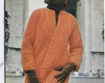 Crochet Jacket Pattern Vintage 70s Crochet Coat Pattern Crochet SWEATER PATTERN Crochet Cardigan Pattern Instant Download