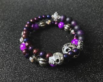 Violet lot de Bracelet de perles femmes Boho bijoux Bohème style boho