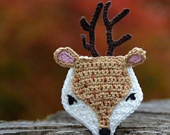 Crochet pattern - deer applique - by VendulkaM crochet, digital pattern DIY, pfd