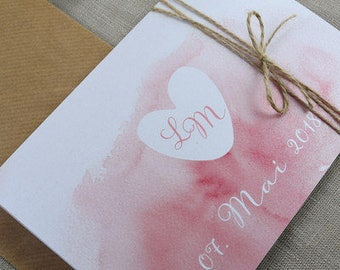 "Wedding invitation ""Heart"" includes reply card"